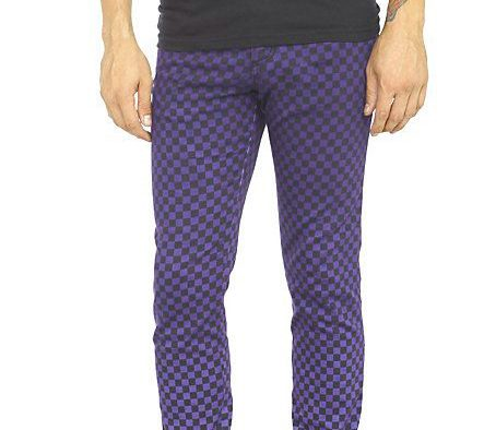 blue checked pants