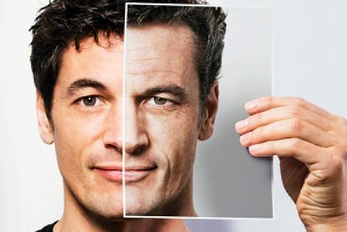 men face